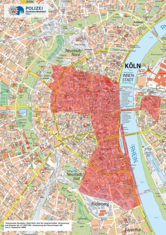 Sperrungen für den Verkehr an Karneval in Köln - copyright: Polizei Köln