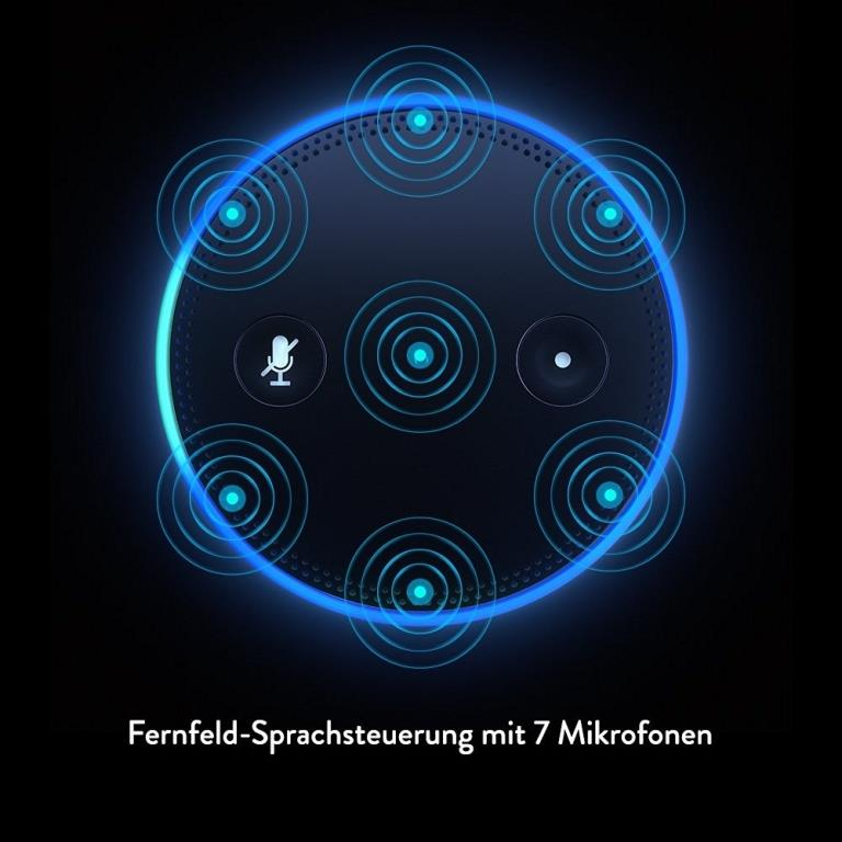 Fernfeld-Spracherkennung mit Richtstrahl-Technologie - copyright: Amazon
