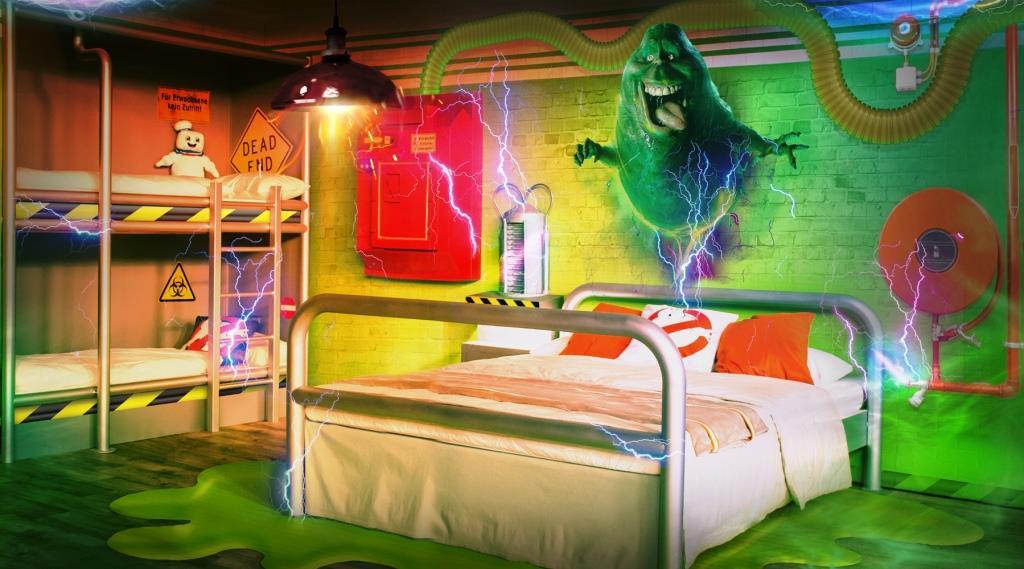 Neues Übernachtungsabenteuer im Heide Park Abenteuerhotel: Ghostbusters-Zimmer - copyright: Heide Park