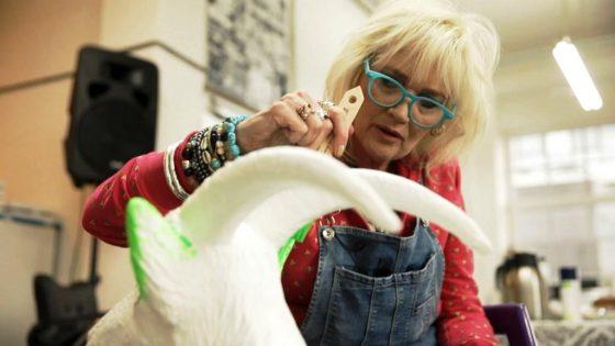 Gaby Köster hat früher schon gerne gemalt. Seit der Krankheit betreibt sie dieses Hobby noch intensiver. - copyright: RTL