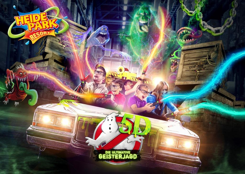 Gewinnspiel: Gehen Sie mit CityNEWS auf Geisterjagd im Heide Park Soltau bei Ghostbusters 5D – Die ultimative Geisterjagd! - copyright: Heide Park / TM & Columbia Pictures Industries, Inc.
