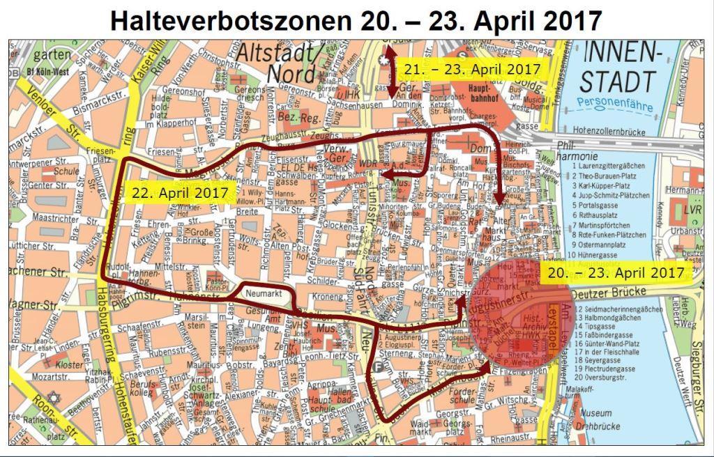 Halteverbotszonen - copyright: Stadt Köln