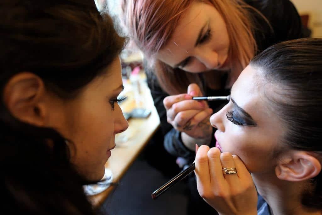Für die insgesamt 17 Shows in diesem Jahr sorgte INCLOVER für das Make-up für die Shows der Designer. - copyright: Berlin Alternative Fashion Week / Michael Wittig, Berlin 2017