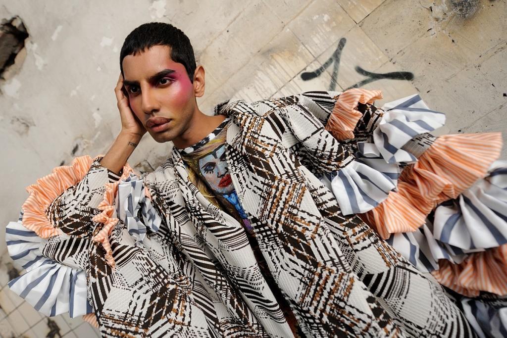 Internationale Trends der alternativen Mode - Look für Tata Christiane - copyright: Berlin Alternative Fashion Week / Michael Wittig, Berlin 2017