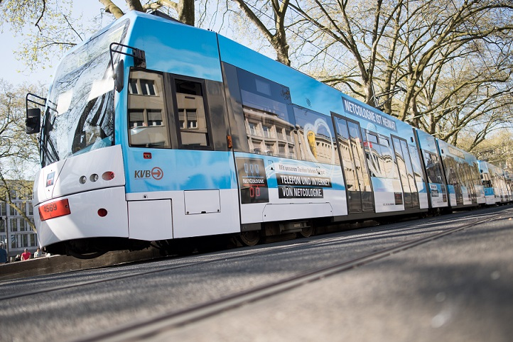 NetCologne knackt 25.000 Kilometer-Glasfaser-Marke: KVB-Straßenbahnen zum Rekord! - copyright: NetCologne / Marius Becker
