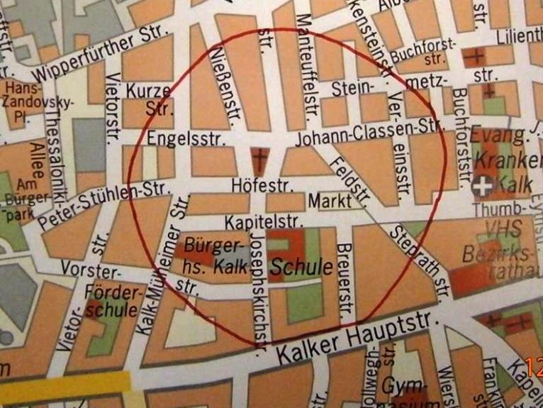 Evakuierunggebiet in Köln Kalk - copyright: Stadt Köln