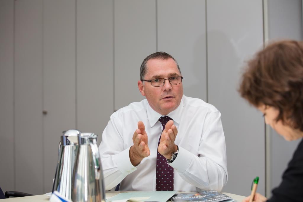 Der leitende Kriminaldirektor Stephan Becker aus Köln im Gespräch mit CityNEWS. - copyright: CityNEWS / Alex Weis