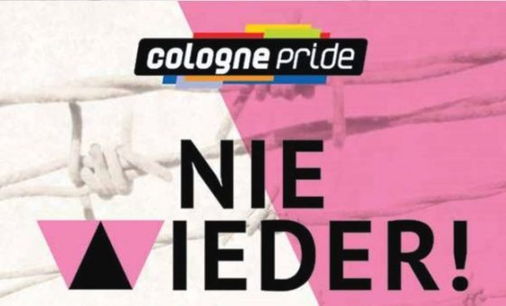 "Das Motto des ColognePride 2017: ""Nie Wieder!"" - copyright: ColognePride"