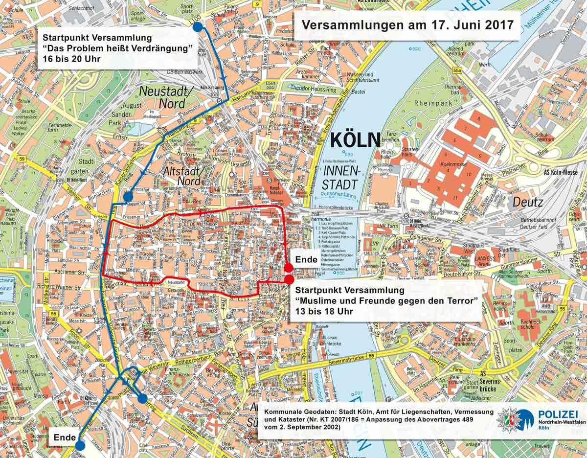 Demos und Kundgebungen in Köln - copyright: Polizei Köln