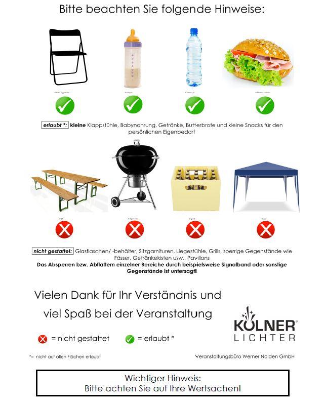 Was ist erlaubt - was verboten bei den Kölner Lichter? - copyright: Kölner Lichter
