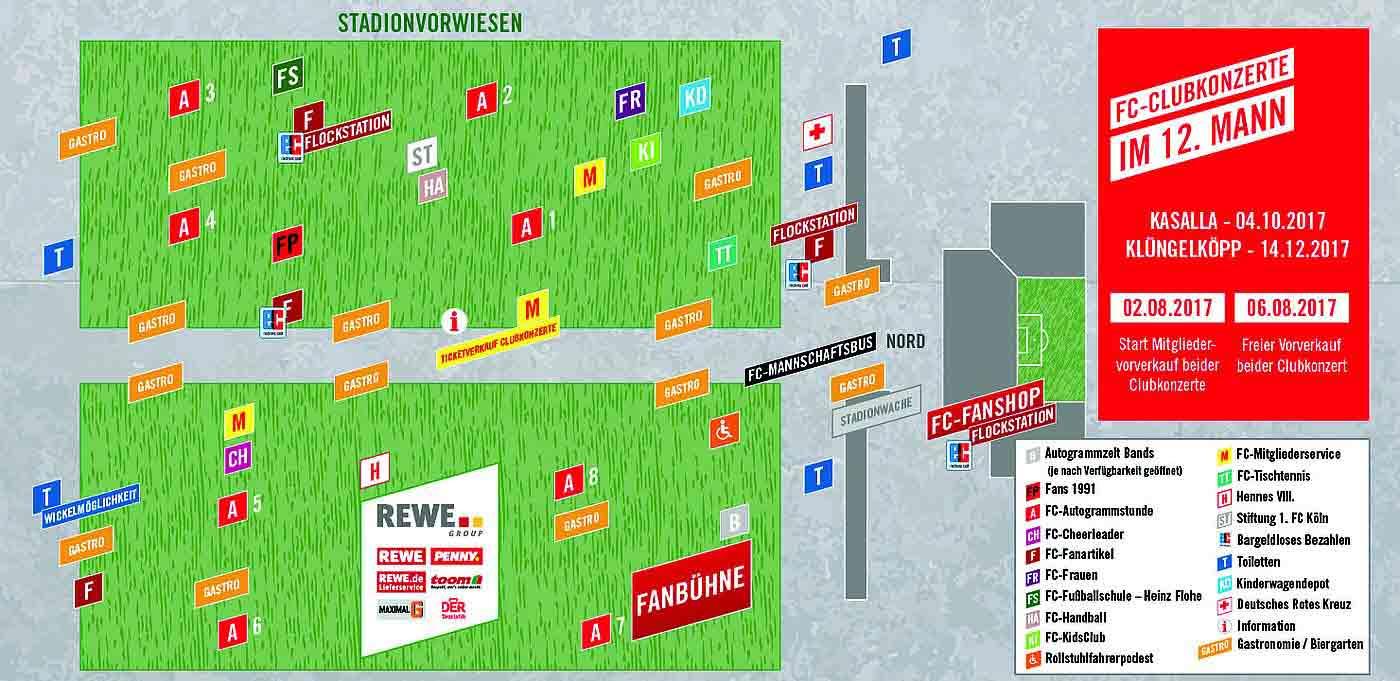Übersichtsplan zur Saisoneröffnung des 1. FC Köln - copyright: 1. FC Köln