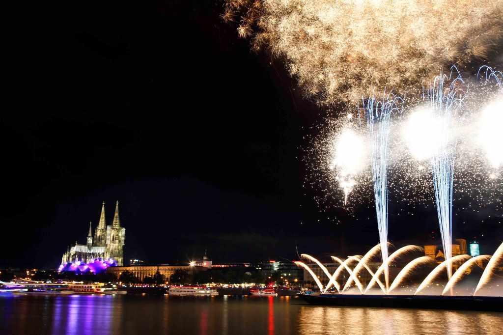 Übersicht zum Ablauf der Kölner Lichter 2019 copyright: Weco GmbH