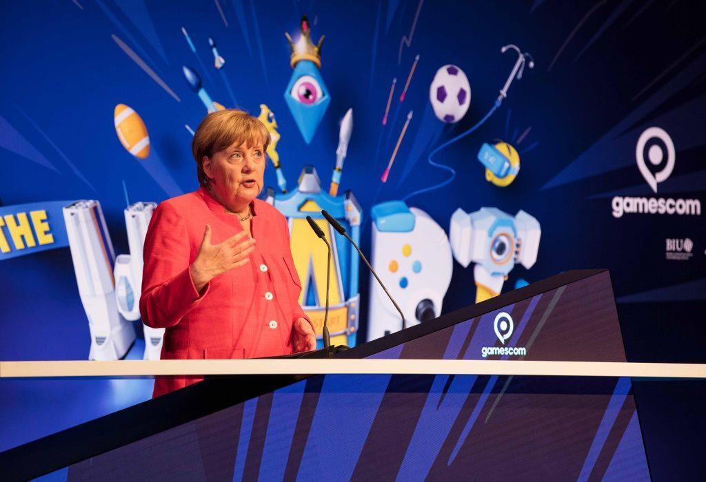 Erstmals wurde die gamescom durch Bundeskanzlerin Dr. Angela Merkel eröffnet. - copyright: CityNEWS / Alex Weis