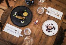 Das Menü ist inspiriert von Berlin und wird im Restaurant multimedial begleitet. - copyright: Jennifer Marke