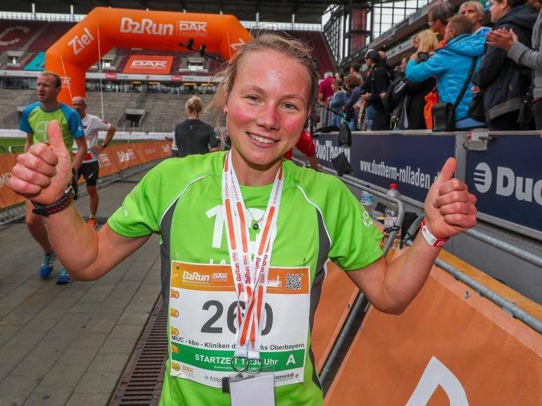 Die schnellse Frau beim B2Run in Köln: Natalie Wangler von der Zapf-Hof GmbH mit 19:39 Minuten. - copyright: Infront B2Run GmbH
