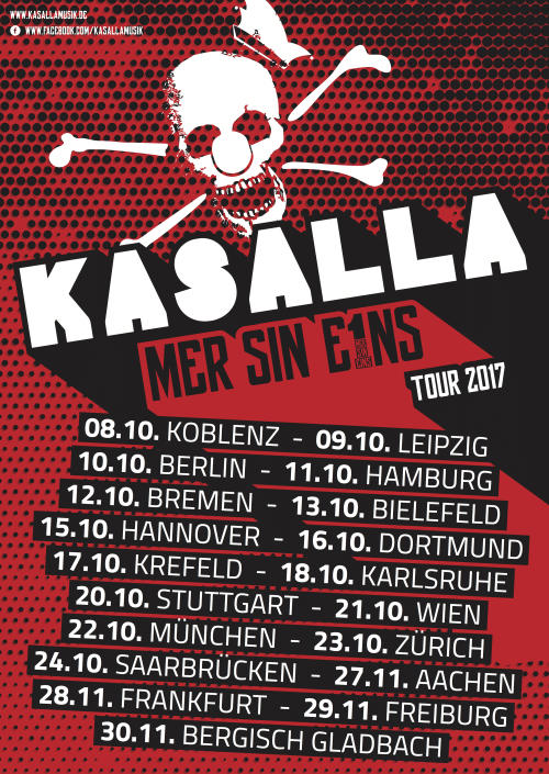 """Kasalla auf """"Mer Sin Eins"""" Tour 2017 - copyright: PR"""