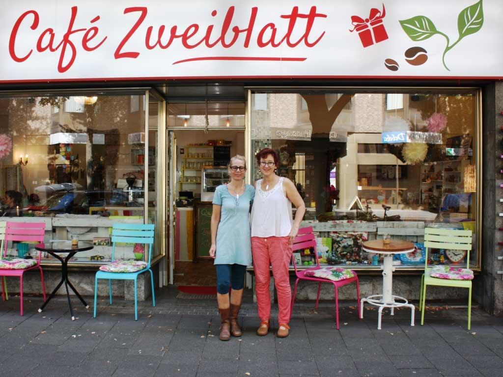 Gute Laune in Lindenthal: Café Zweiblatt copyright: privat