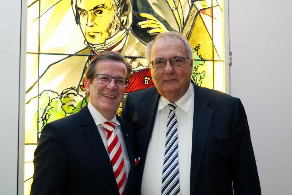 Christoph Kuckelkorn (links) und Peter Griesemann (rechts) copyright: J. Rieger, Köln / Festkomitee Kölner Karneval