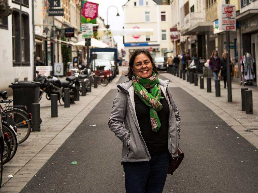 """Tamara Soliz lebt und arbeitet in der Südstadt. Sie ist Redakteurin des Online-Magazins """"meinesuedstadt.de"""". copyright: CityNEWS / alex Weis"""
