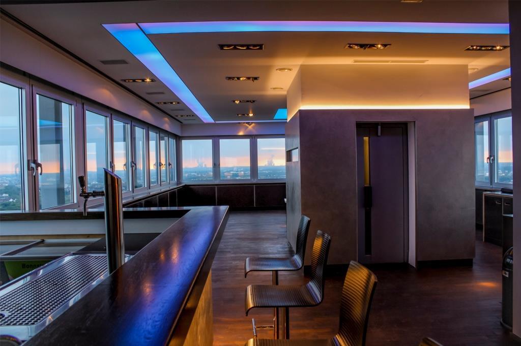 Die Räumlichkeiten bieten eine Gesamteventfläche von etwa 120 Quadratmetern. copyright: Up Cologne über Event Inc