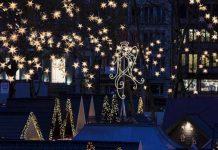 Markt der Engel: Lichtermeer beim Weihnachtsmarkt am Kölner Neumarkt copyright: Markt der Engel