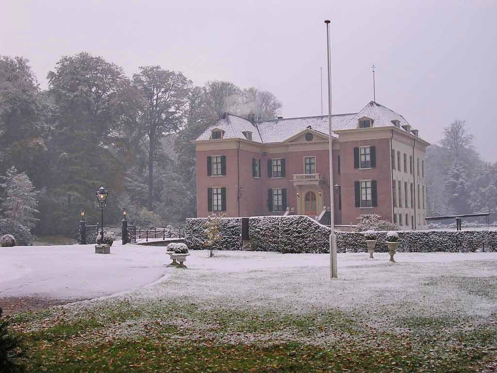 Huis Doorn (Exil des letzten deutschen Kaisers) im Winter. Quelle: Huis Doorn