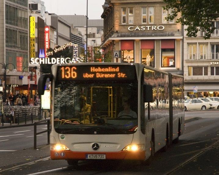 Anreise mit dem Bus copyright: Kölner Verkehrs-Betriebe AG