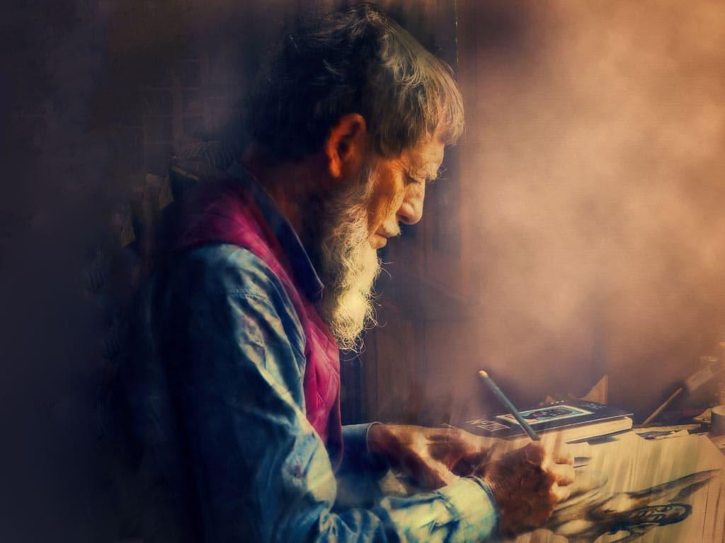 Im Alter kann man sich auf die schönen Dinge im Leben konzentrieren, z.B. einem neuen Hobby. copyright: pixabay.com