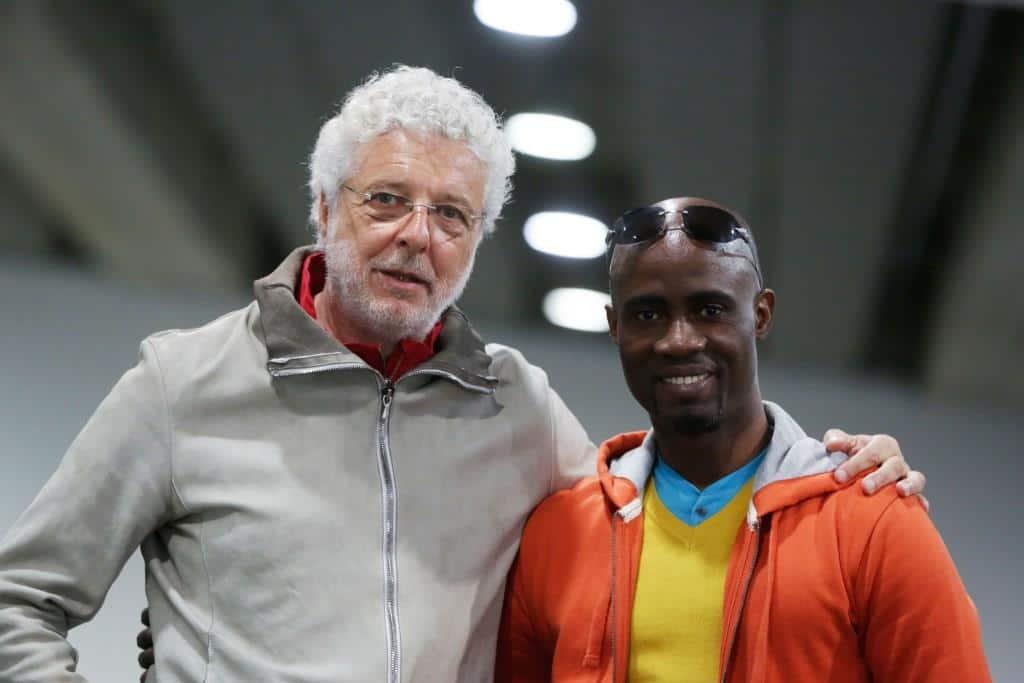André Heller zusammen mit Georges Momboye copyright: Marija Kanizaj