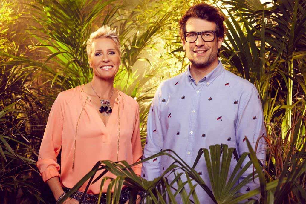 """Das Dschungelcamp 2018 steht in den Startlöchern und damit auch die beiden Moderatoren von """"Ich bin ein Star - holt mich hier raus"""" Sonja Zietlow und Daniel Hartwich. Foto: MG RTL D / Arya Shirazi"""