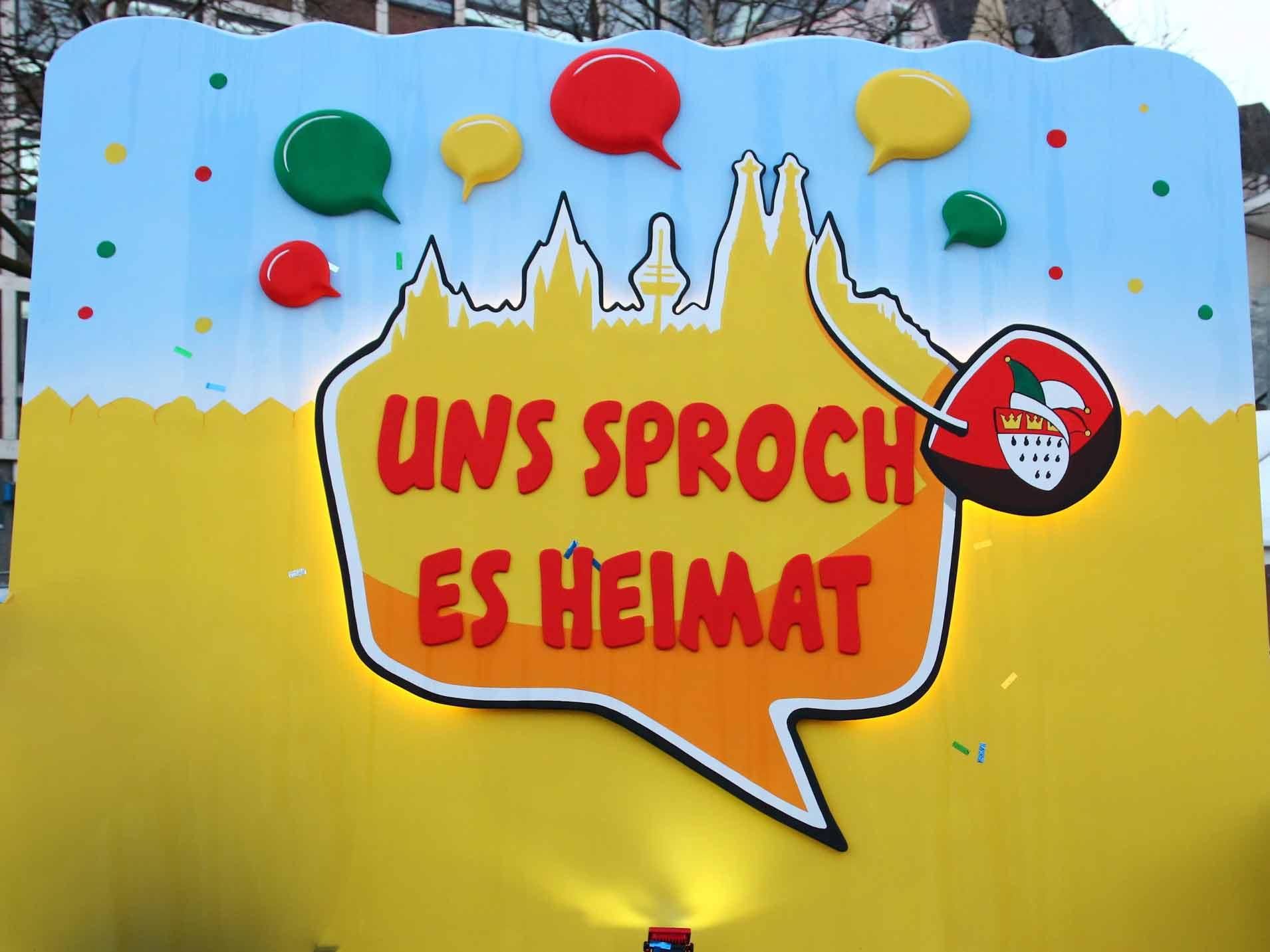 Das Karnevals-Motto 2019: Uns Sproch es Heimat copyright: CityNEWS / Thomas Pera