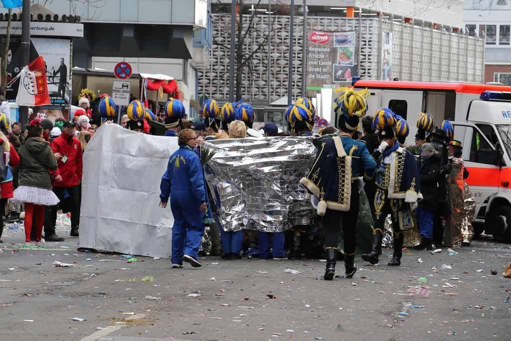 Unfall Kölner Karnevalszug