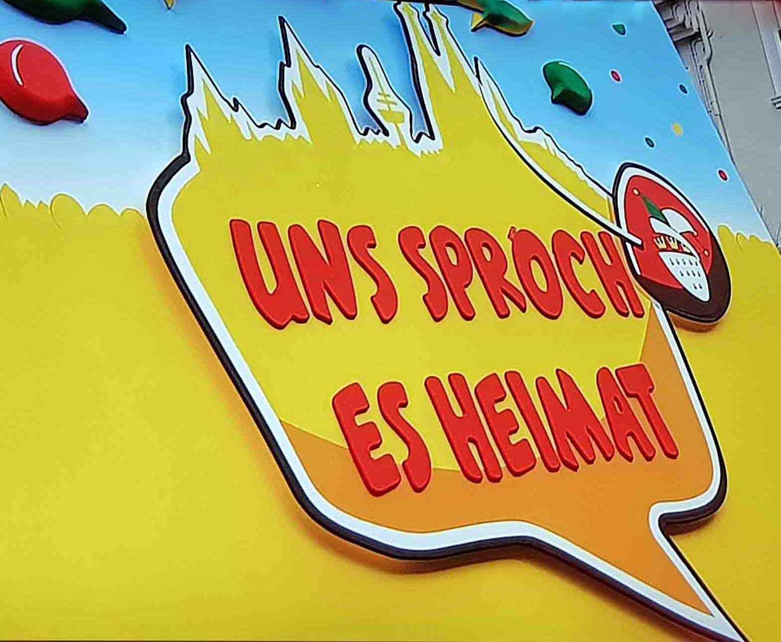 """Das Motto der Karnevalssession 2019: """"Uns Sproch es Heimat""""! copyright: CityNEWS"""