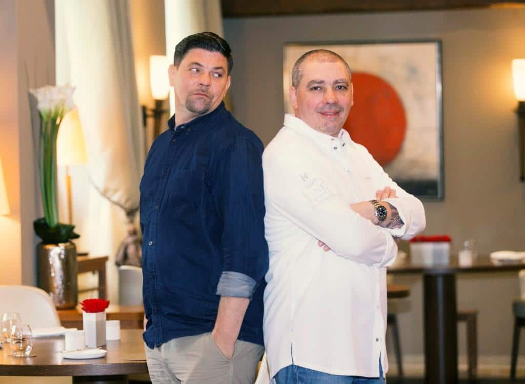 Bei Kitchen Impossible heißt es noch einmal: Tim Mälzer vs. Christian Bau Foto: MG RTL D / PA / Thomas Wieck