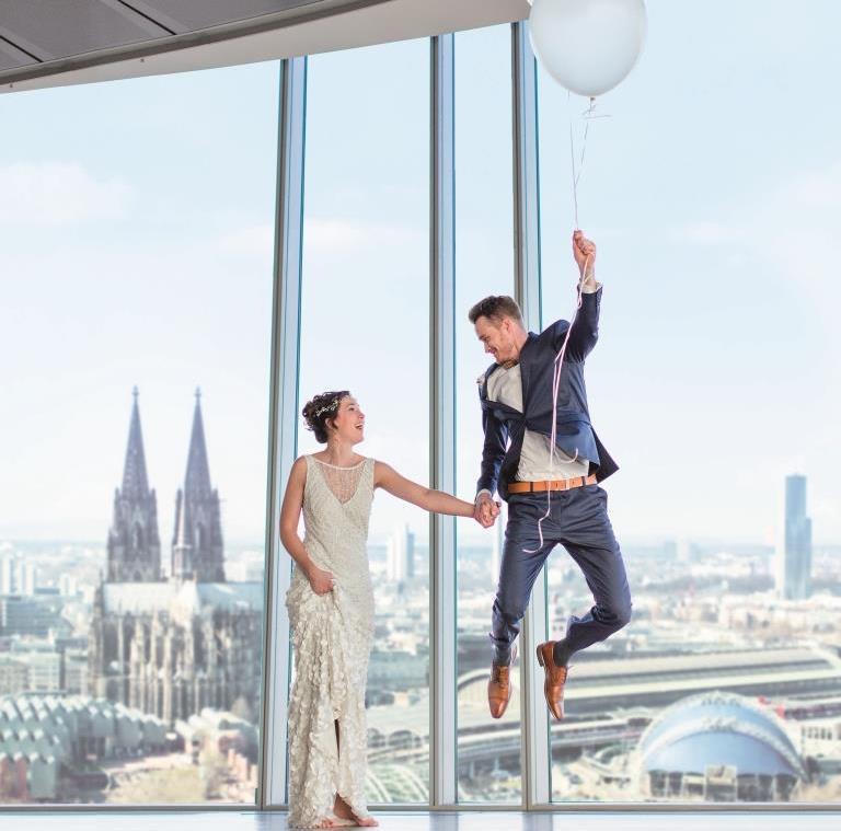 Zahlen, Daten und Fakten rund ums Heiraten in Köln copyright: KölnSKY / Daniel Undorf Fotografie