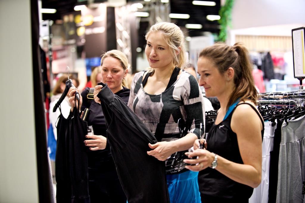Die FIBO zeigt vom 12. bis 15. April in Köln eine breite Auswahl an Sportbekleidung. copyright: FIBO