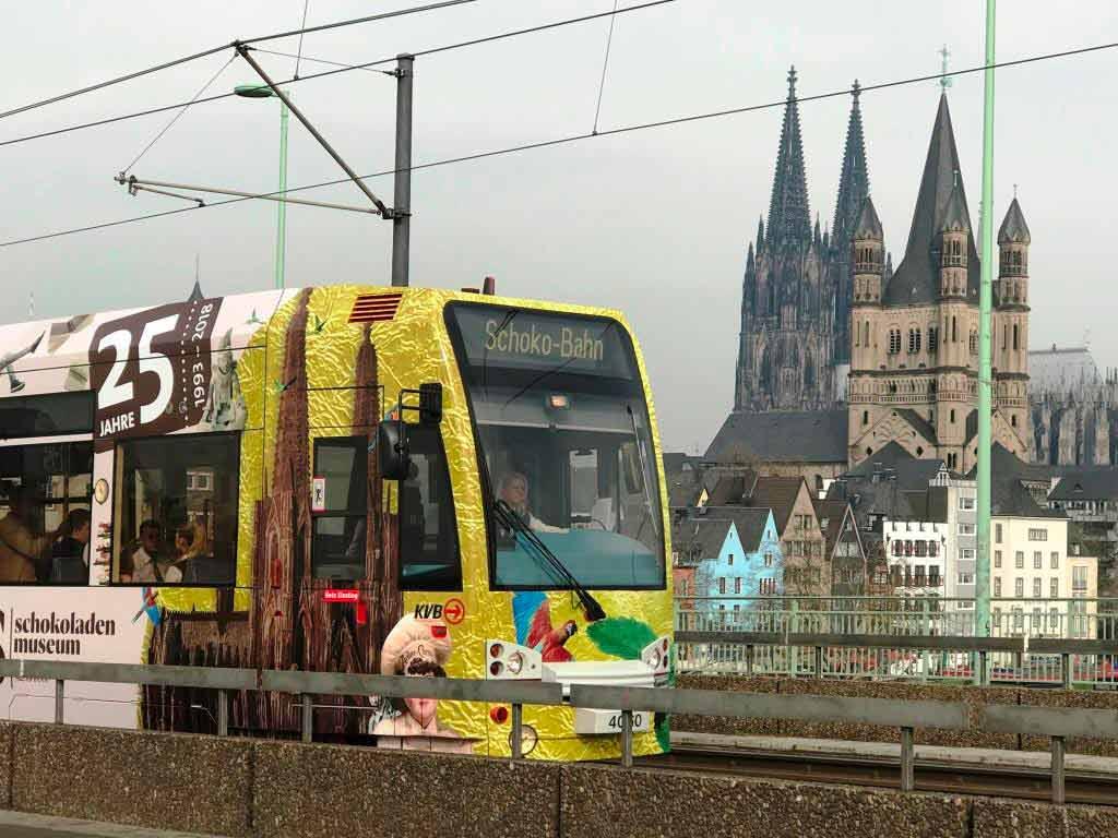 KVB schickt Jubiläumsbahn für das Schokoladenmuseum Köln auf die Strecke copyright: Kölner Verkehrs-Betriebe AG / Stephan Anemüller