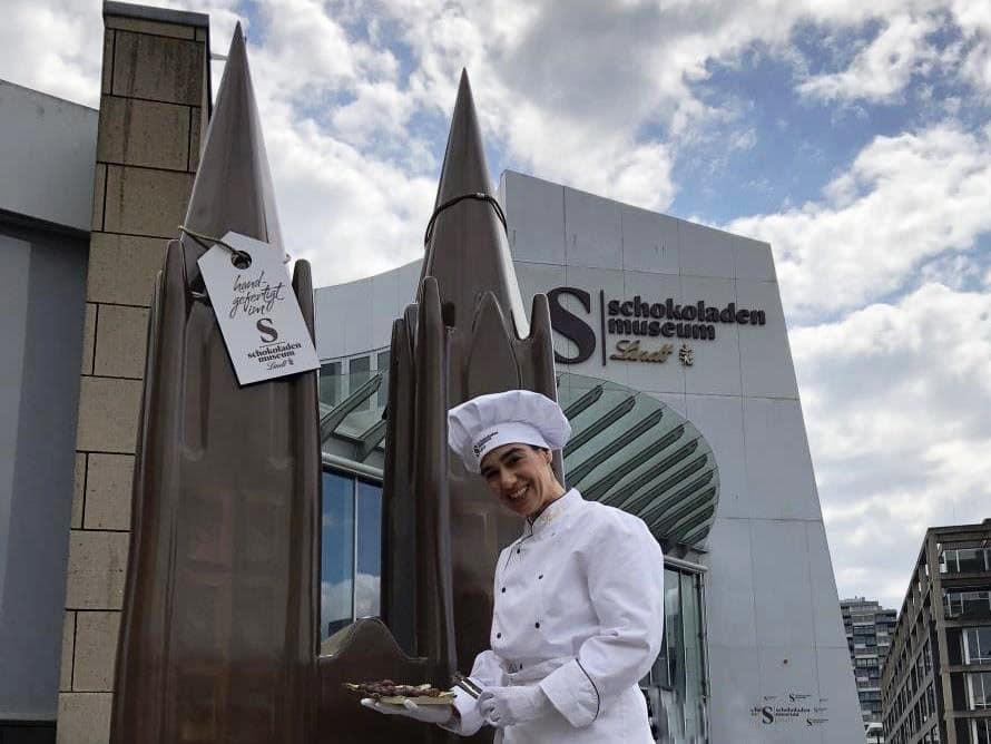 Kölner Dom wird zum Kunst-Skulpturen-Objekt copyright: Schokoladenmuseum Köln