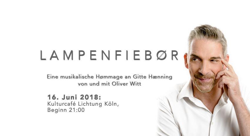 """Oliver Witt ist mit """"Lampenfiebør"""" auf den Spuren von Gitte Hænning"""