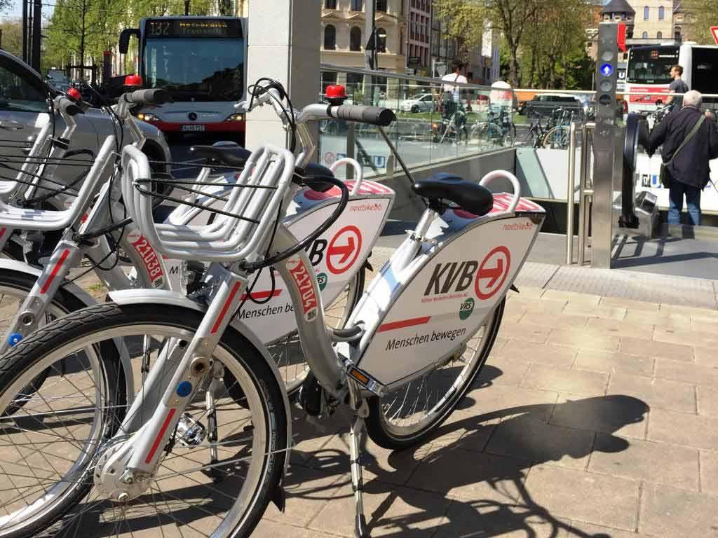Auch das Angebot von immer mehr Leih-Fahrrädern sorgt für immer mehr Radler in Köln. copyright: KVB / Stephan Anemüller