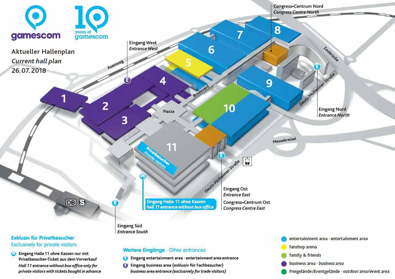 Übersicht gamescom 2018 in Köln - ZUM DOWNLOAD KLICKEN - copyright: Koelnmesse