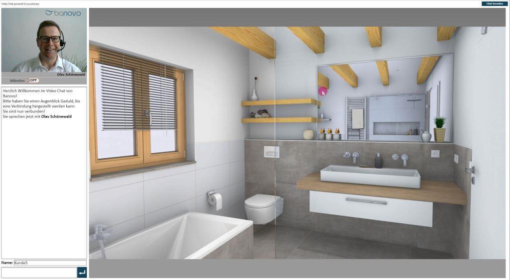 Kostenfreie 3D-Onlineplanung durch Videokonferenz copyright: Banovo