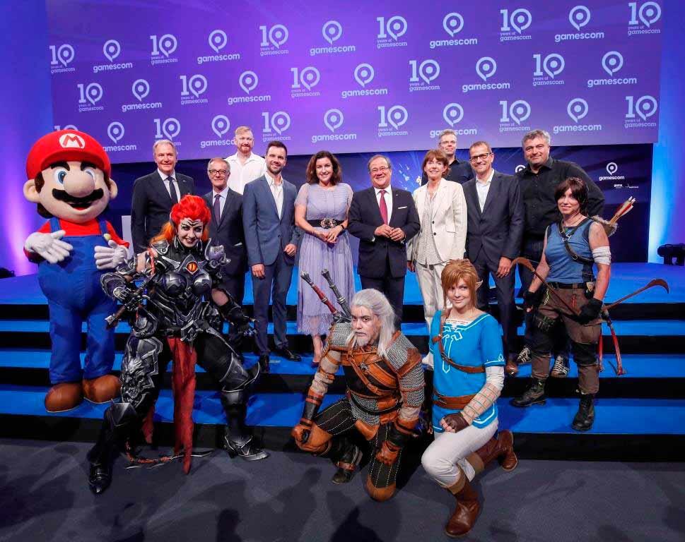 Zur Eröffnung der gamescom 2018 kamen zahlreiche Politiker. copyright: Koelnmesse / Franziska Krug