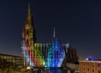 Domwallfahrt 2018: Kölner Dom erstrahlt im spektakulären Licht Copyright: Hohe Domkirche Köln, Dombauhütte; Foto: M. Unkelbach