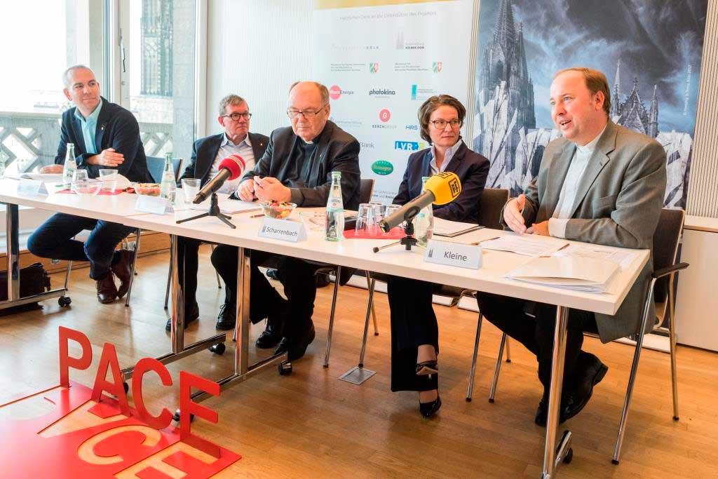 Auf einer Pressekonferenz wurde das Programm zur Domwallfahrt 2018 vorgestellt. copyright: Hohe Domkirche Köln, Dombauhütte; Foto: M. Unkelbach