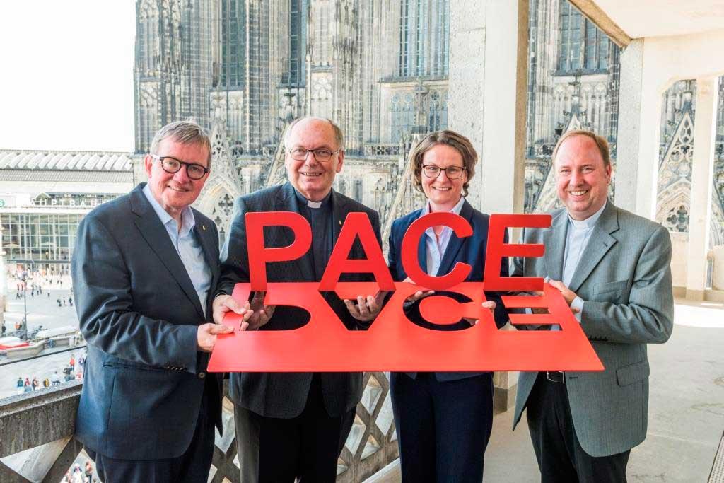 """Die Domwallfahrt 2018 steht unter dem Leitmotto: """"Dona nobis pacem – Gib uns Frieden"""" copyright: Hohe Domkirche Köln, Dombauhütte; M. Unkelbach"""