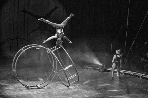 Ferry & Sophie – Rhönrad Ferenc Nagy und seine Partnerin Zsófia Németh machen im Zirkus aus dem klassischen Rhönrad ein verblüffendes Requisit. Sprünge, Kopfstände sowie rasante Drehungen, die ihresgleichen suchen. Das Rhönrad mutiert zum Rolling Wheel.