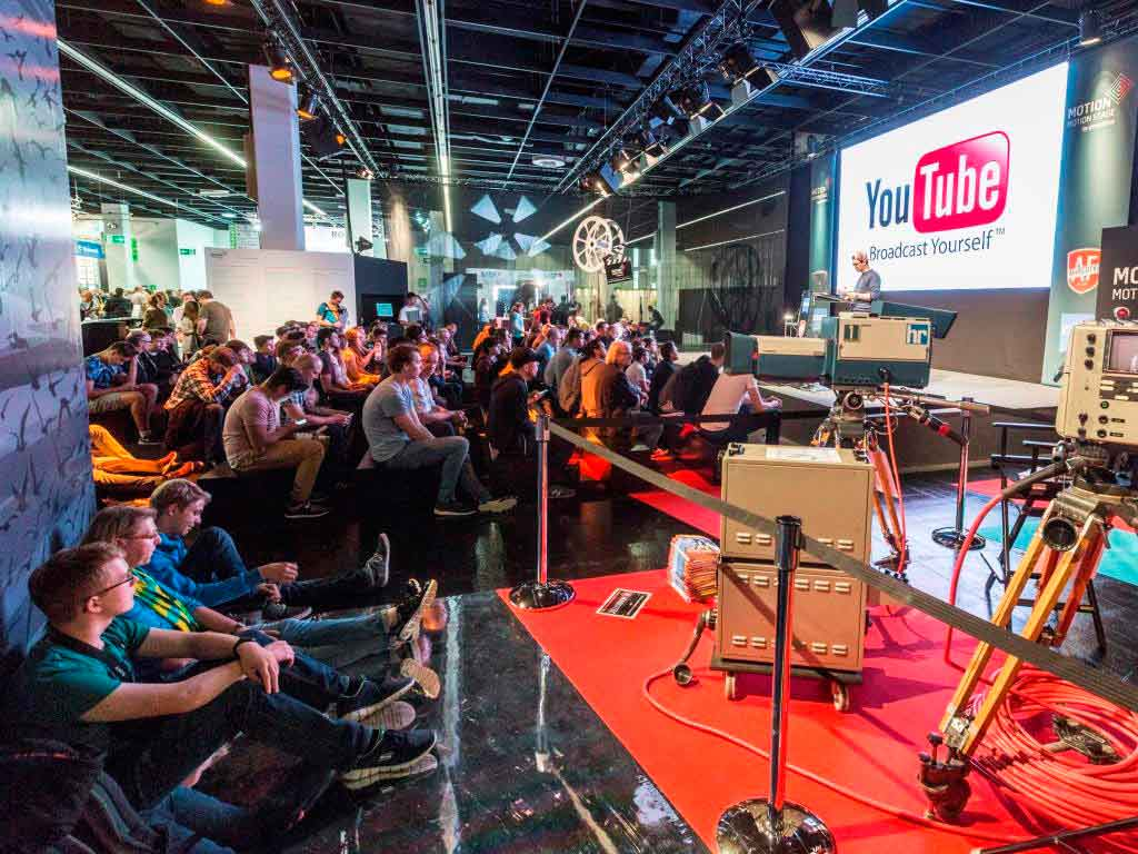 Die MOTION Stage auf der photokina wird zum Dreh- und Angelpunkt im Bereich Bewegtbild. copyright: Koelnmesse GmbH / Andreas Hagedorn