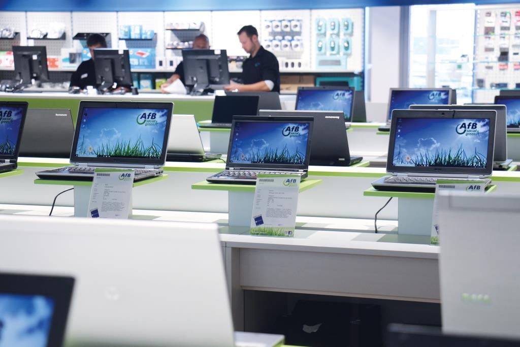 Bereits seit 2007 vertreibt das IT-Unternehmen in Köln wiederaufbereitete Notebooks, Smartphones und mehr. copyright: AfB