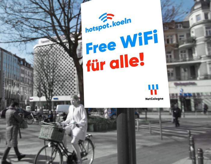 Köln in puncto WLAN auf der Spitzenposition copyright: Marius Becker / NetCologne